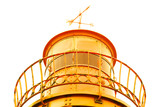 old lighthouse yellow metal