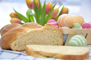 Briochestriezel zu Ostern
