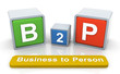 3d colorful textbox 'b2p'