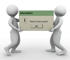 3d men contact support message