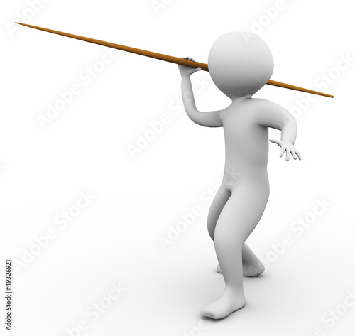 3d man javelin throw