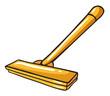 A yellow mop