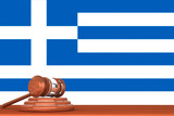 Gavel with Flag Of Greece
