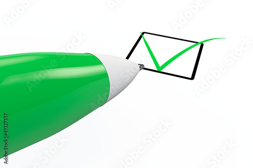 Pen drawing mark in checkbox