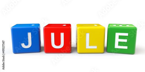Cubes with Jule sign