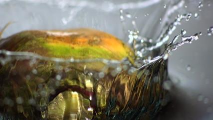 Turnip dropping into water