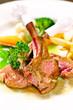 Lamb rib steak a great main course food menu