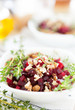 Beetroot salad with nuts, healthy food