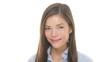 Woman smiling closeup portrait