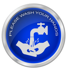 Wash hands button