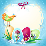 Easter background with label