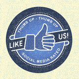 Like us Icon, Illustration icon social networks