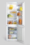 open refrigerator with food