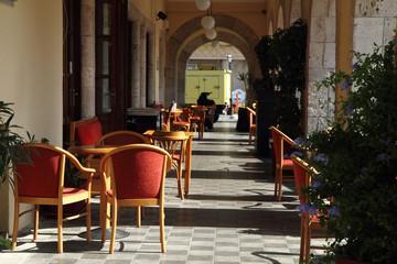 empty greece restaurant