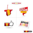 étiquette, tampon, code barre MADE IN SPAIN