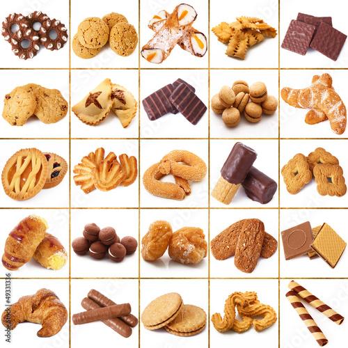Fototapeta biscotti collage