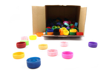 color plastic caps collection