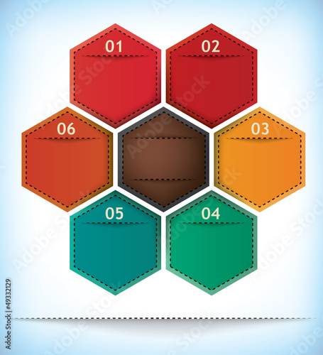 Hexagonal presentation template