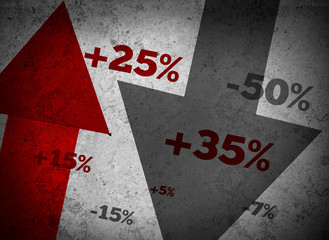 Market statistics on grey wall