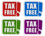 4 !-Schilder bunt TAX FREE
