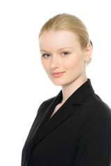 attraktive blonde businessfrau