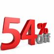 54 Percent off