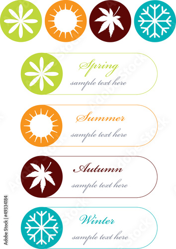 vector concept with four seasons icons