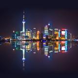 Fototapety Shanghai skyline, carré