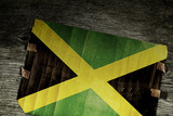 JAMAICAN FLAG ON WOOD