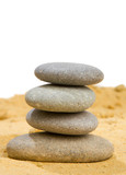 sand and rock for harmony and balance in pure simplicity poster