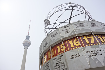 TV tower and worldclock (Fernsehturm, Weltzeituhr Berlin)
