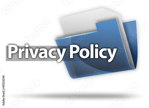 """3D Style Folder Icon """"Privacy Policy"""""""