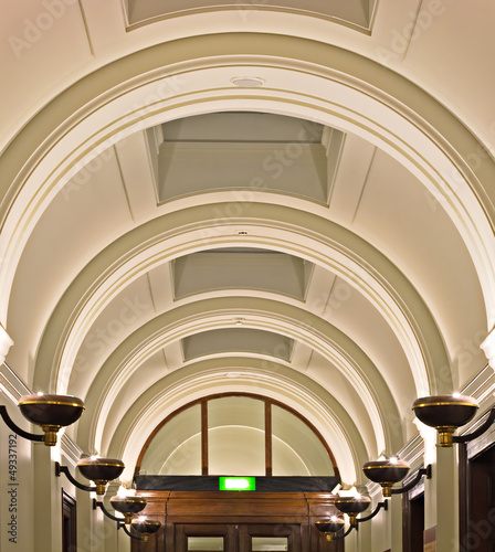 Elegant ornate arched ceiling