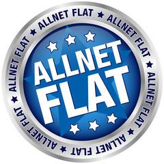 "Button Banner ""Allnet Flat"" blau/silber"