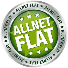 """Button Banner """"Allnet Flat"""" grün/silber"""