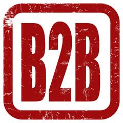 Grunge Stempel rot B2B