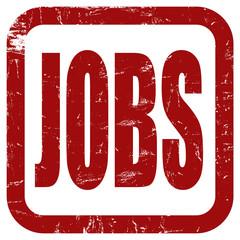Grunge Stempel rot quad JOBS
