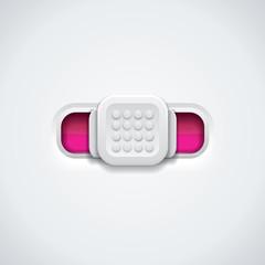 Button - detailed vector design