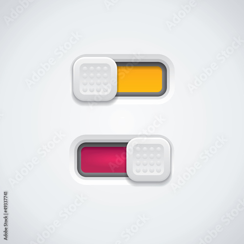 Detailed switch button - vector