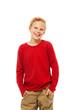 Nice smiling blond Caucasian boy