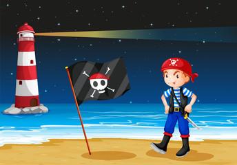 A pirate and the sea parola