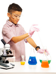 Mixing chemicals with dropper
