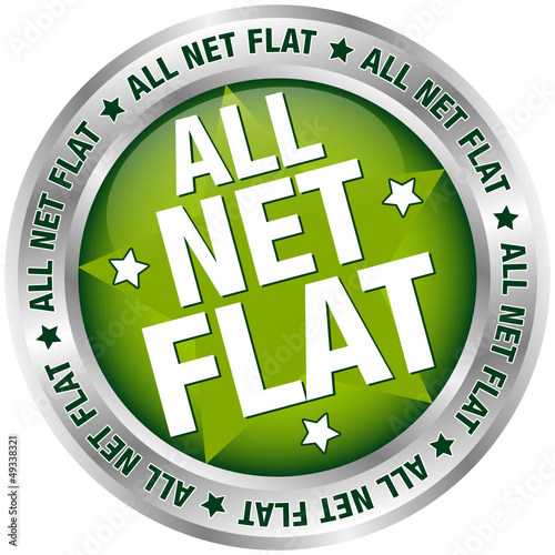 "Button Banner ""All Net Flat"" grün/silber"