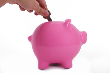Pink Piggy Bank and Key