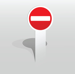 Sticker Do Not Enter sign