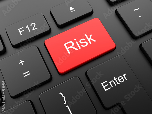 Red risk button on the keyboard