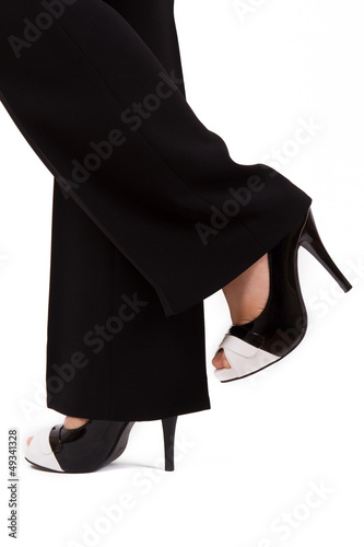 Feet and Shoes of Business Woman