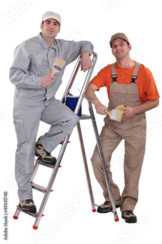 Two male painters