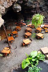 Restaurant in volcano cave