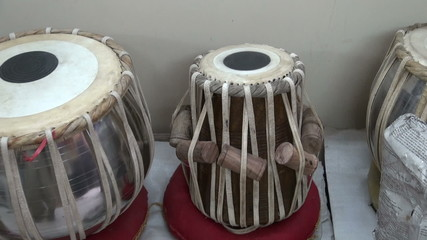 indian musical instruments tabla drums in Delhi shop